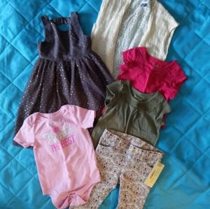 12-18 month Baby girl clothes 6 piece lot